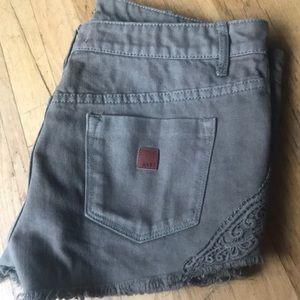 Olive Green Roxy Jean Shorts W28